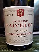 ドメーヌ・フェヴレイ コルトン・クロ・デ・コルトン・フェヴレイ グラン・クリュ モノポール(2007)