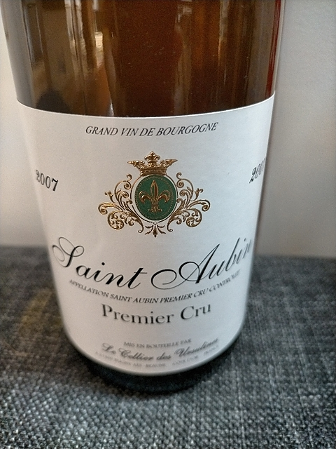Cellier des Ursulines Saint Aubin 1er Cru Blanc(セリエ・デ・ウルシュリーヌ サン・トーバン プルミエ・クリュ ブラン)