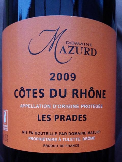 Dom. Mazurd Côtes du Rhône Les Prades