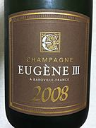 Champagne Eugène III Millésime(2008)