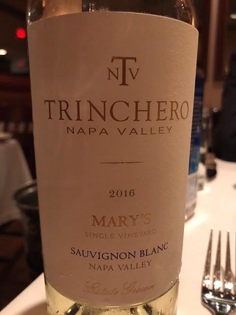 Trinchero Mary's Single Vineyard Sauvignon Blanc(トリンチェロ メアリーズ シングル・ヴィンヤード ソーヴィニヨン・ブラン)