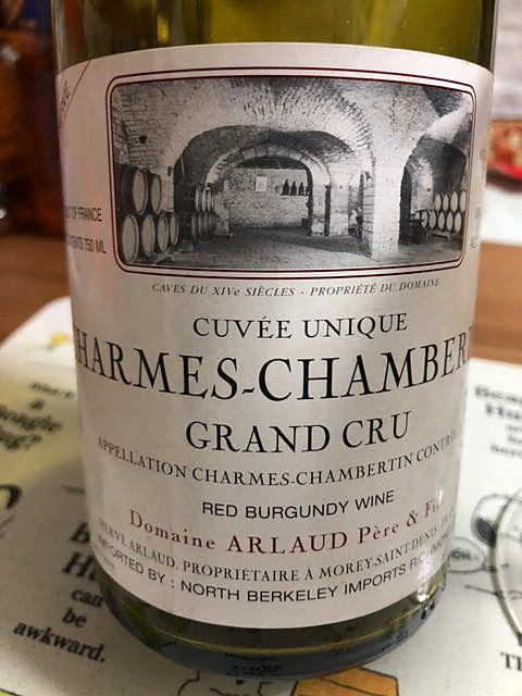 Dom. Arlaud Charmes Chambertin Grand Cru Cuvée Unique(ドメーヌ・アルロー シャルム・シャンベルタン グラン・クリュ キュヴェ・ユニーク)