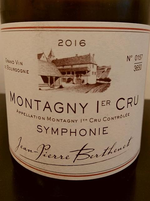 Jean Pierre Berthenet Montagny 1er Cru Symphonie