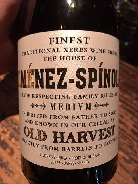 Ximénez Spínola Old Harvest Medium