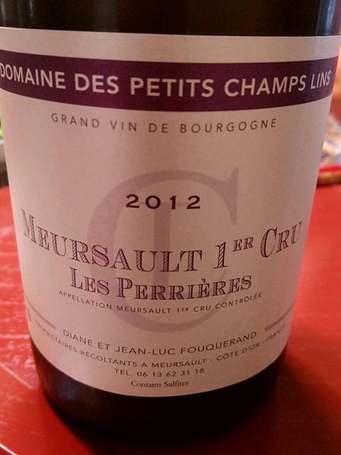 Dom. des Petits Champs Lins Meursault 1er Cru Les Perrières(ドメーヌ・デ・プティ・シャン・ラン ムルソー プルミエ・クリュ レ・ペリエール)
