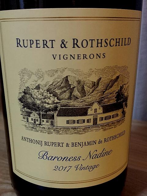 Rupert & Rothschild Baroness Nadine 2017(ルパート&ロートシルト バロネス・ナディーヌ)