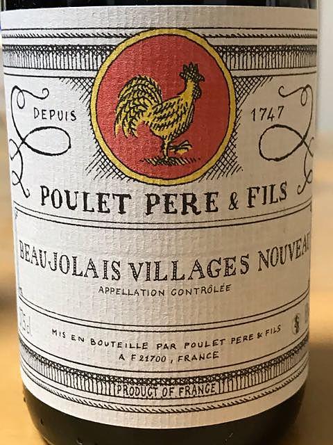 Poulet Père & Fils Beaujolais Villages Nouveau(プレ・ペール・エ・フィス ボージョレ・ヴィラージュ ヌーヴォー)