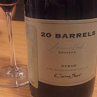 Cono Sur 20 Barrels Syrah Limited Edition(コノ・スル 20・バレル シラー リミテッド・エディション)