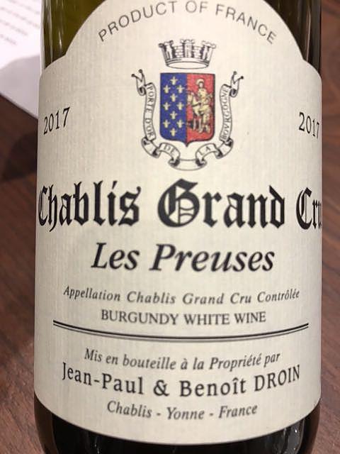 Jean Paul & Benoit Droin Chablis Grand Cru Les Preuses