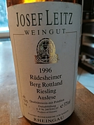ライツ リュデスハイマー ベルク・ロットランド リースリング アウスレーゼ(1996)