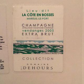 Dehours Lieu dit La Côte en Bosses Collection Extra Brut