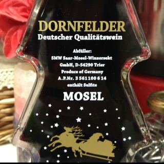 Mosel Dornfelder Christmas Tree Bottle