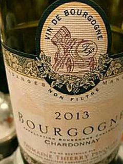Dom. Thierry Pinquier Bourgogne Chardonnay(ドメーヌ・ティエリ・パンケ ブルゴーニュ シャルドネ)