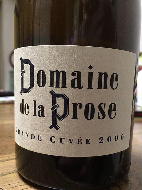 Dom. de la Prose Grande Cuvée Blanc(ドメーヌ・ド・ラ・プローズ グラン・キュヴェ ブラン)