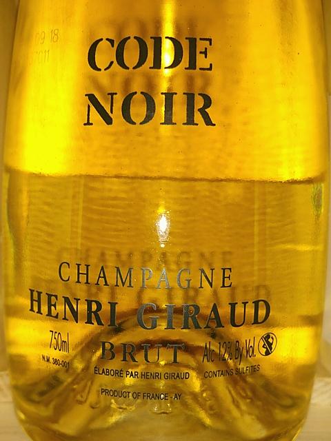 Henri Giraud Code Noir Brut