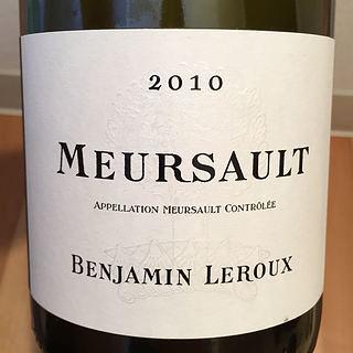 Benjamin Leroux Meursault Blanc(バンジャマン・ルルー ムルソー ブラン)