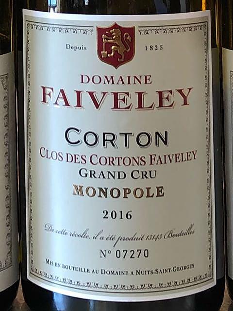 Dom. Faiveley Corton Clos des Cortons Faiveley Grand Cru Monopole(ドメーヌ・フェヴレイ コルトン・クロ・デ・コルトン・フェヴレイ グラン・クリュ モノポール)