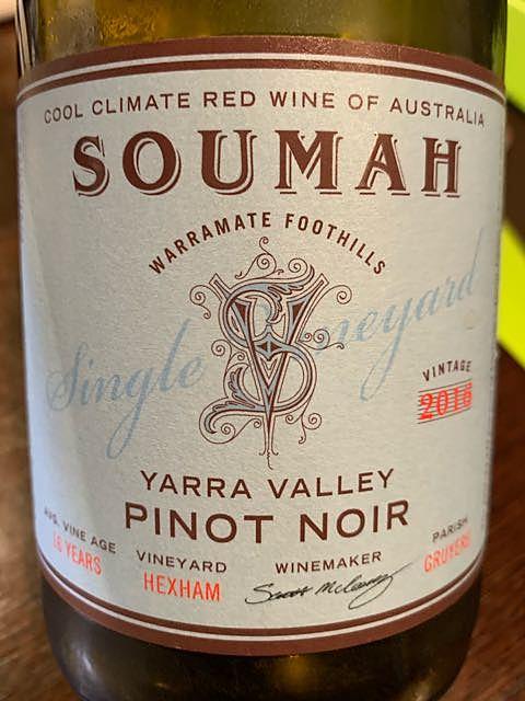 Soumah Single Vineyard Pinot Noir Hexham