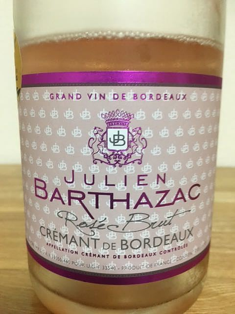 Julien Barthazac Crémant de Bordeaux Rosé Brut(ジュリアン・バルタザック クレマン・ド・ボルドー ロゼ ブリュット)