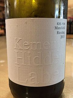 Kemenys Hidden Label KHL 8298 Mansfield Riesling