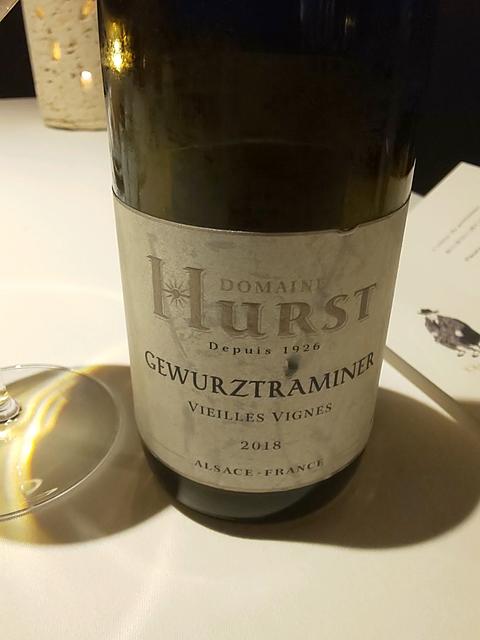 Dom. Hurst Gewürztraminer Vieilles Vignes(ドメーヌ・ウルスト ゲヴェルツトラミネール ヴィエイユ・ヴィーニュ)