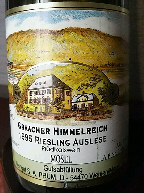 S.A. Prüm Graacher Himmelreich Riesling Auslese(S.A.プリュム グラーヒャー・ヒンメルライヒ リースリング アウスレーゼ)