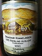 S.A.プリュム グラーヒャー・ヒンメルライヒ リースリング アウスレーゼ(1995)