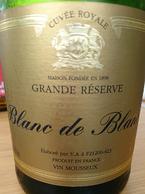 V.A. Blanc de Blancs Grande Réserve Cuvée Royale