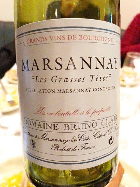 Dom. Bruno Clair Marsannay Les Grasses Têtes
