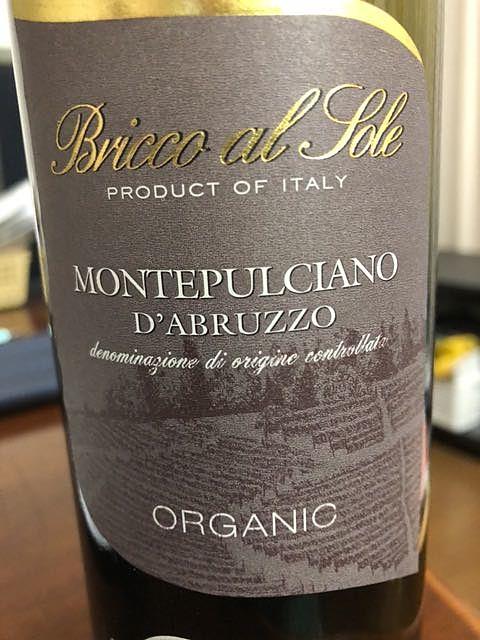 Bricco al Sole Montepulciano d'Abruzzo Organic