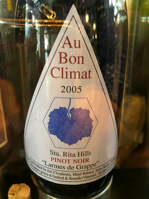 Au Bon Climat Sta. Rita Hills Pinot Noir Larmes de Grappe(オー・ボン・クリマ サンタ・リタ・ヒルズ ピノ・ノワール ラーム・ド・グラップ)