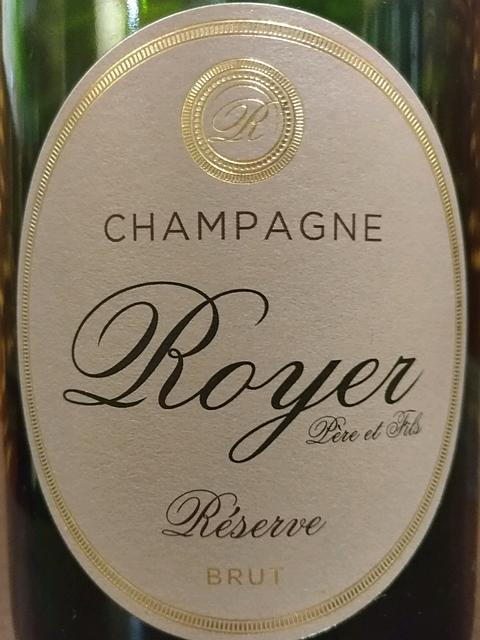 Champagne Royer Réserve Brut(シャンパーニュ・ロワイエ レゼルヴ ブリュット)