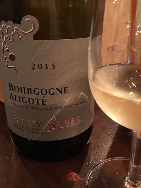 Fanny Sabre Bourgogne Aligoté(ファニー・サーブル ブルゴーニュ アリゴテ)