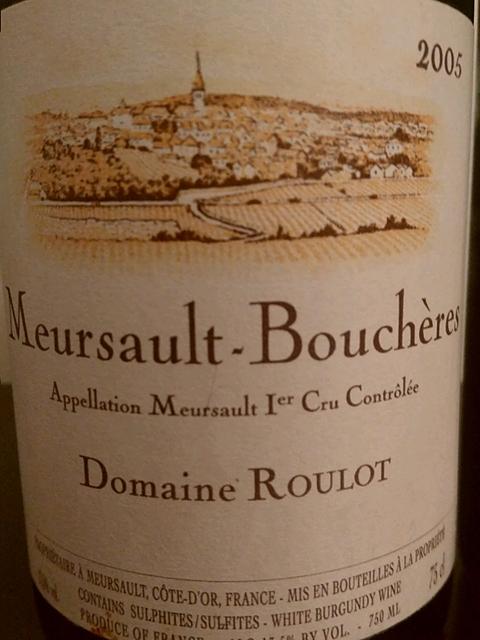 Dom. Roulot Meursault Bouchères 1er Cru