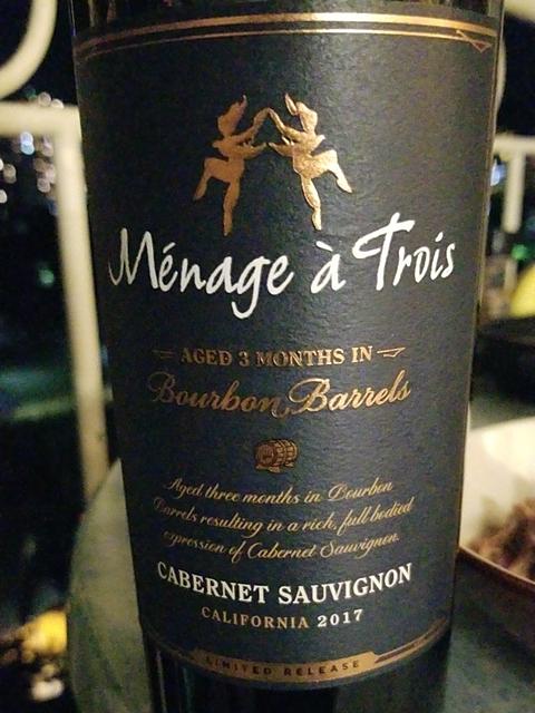 Ménage à Trois Bourbon Barrel Cabernet Sauvignon(メナージュ・ア・トロワ バーボン・バレル カベルネ・ソーヴィニヨン)