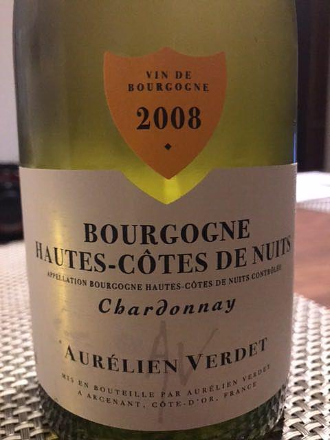 Aurélien Verdet Bourgogne Hautes Côtes de Nuits Chardonnay