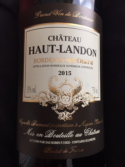 Ch. Haut Landon Bordeaux Supérieur(シャトー・オー・ランドン ボルドー・スュペリュール)