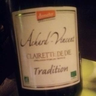 Achard Vincent Crémant de Die Tradition(アシャール・ヴァンサン クレレット・ド・ディ トラディション)