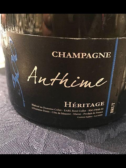 Champagne Anthime Héritage Les 300
