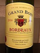 Grand Bois Bordeaux(2016)