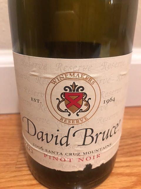 David Bruce Santa Cruz Mountains Pinot Noir(デヴィッド・ブルース サンタ・クルーズ・マウンテンズ ピノ・ノワール)