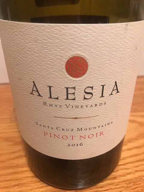 Rhys Vineyards Alesia Santa Cruz Mountains Pinot Noir