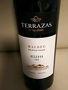 テラザス・デ・ロス・アンデス レセルバ マルベック