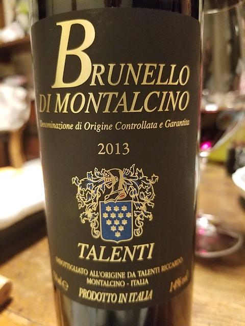 Talenti Brunello di Montalcino(タレンティ ブルネッロ・ディ・モンタルチーノ)