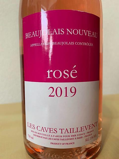 Les Caves Taillevent Beaujolais Nouveau Rosé
