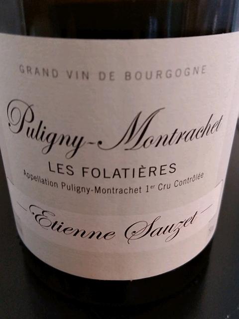 Etienne Sauzet Puligny Montrachet 1er Cru Les Folatières