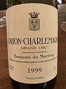 ボノー・デュ・マルトレ コルトン・シャルルマーニュ グラン・クリュ(1999)