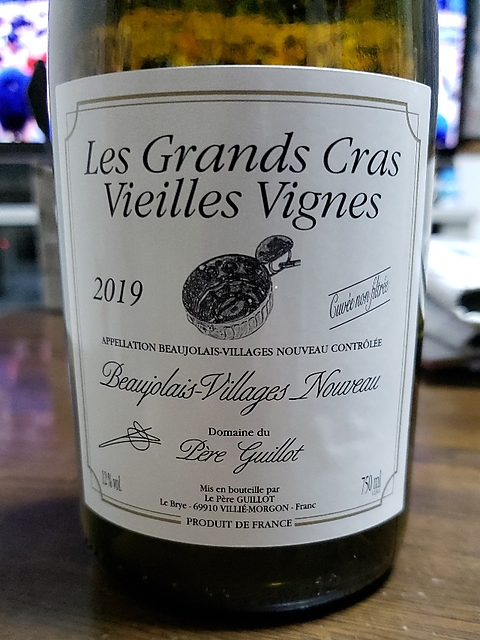 Dom. du Père Guillot Beaujolais Villages Nouveau Les Grand Cras Vieilles Vignes(ドメーヌ・デュ・ペール・ギヨ ボージョレ・ヴィラージュ ヌーヴォー レ・グラン・クラ ヴィエイユ・ヴィーニュ)