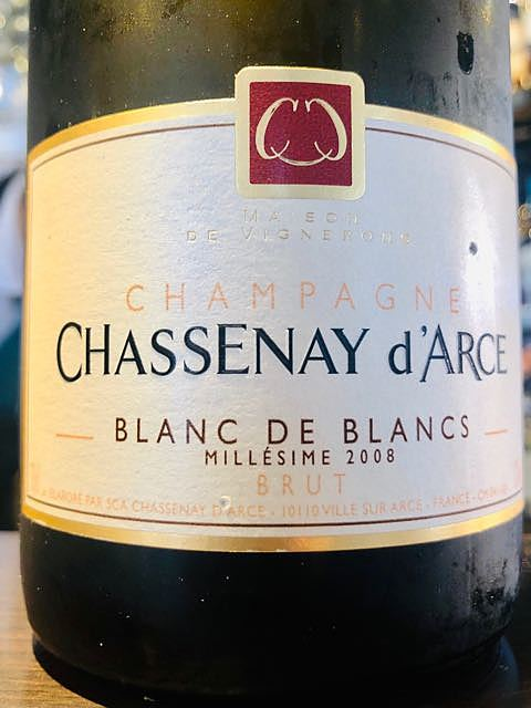 Chassenay d'Arce Blanc de Blancs Brut Millésime(シャスネ・ダルス ブラン・ド・ブラン ブリュット ミレジメ)