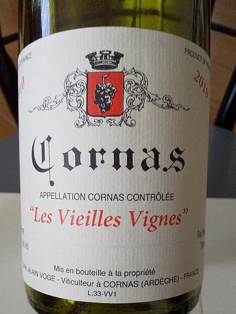 Dom. Alain Voge Cornas Les Chailles(ドメーヌ・アラン・ヴォージュ コルナス レ・シャイユ)